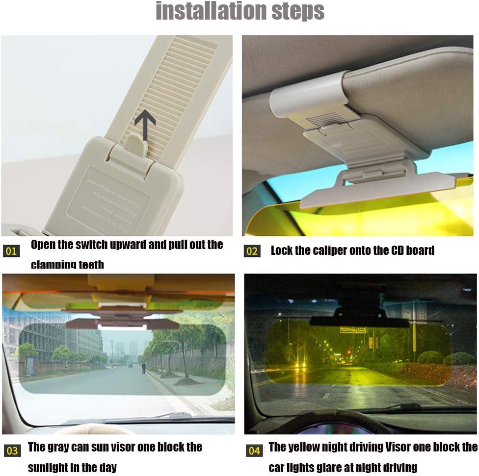 Buyokay Visor for Car,2 in 1 Car Sun Visor Day//Night for Driving,Adjustable Anti-Glare Automotive Sun Protection Visors,UV Rays,Universal for Cars,SUVs