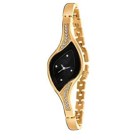 Rustet Analog Dial Women's Wrist Watch (Gold)