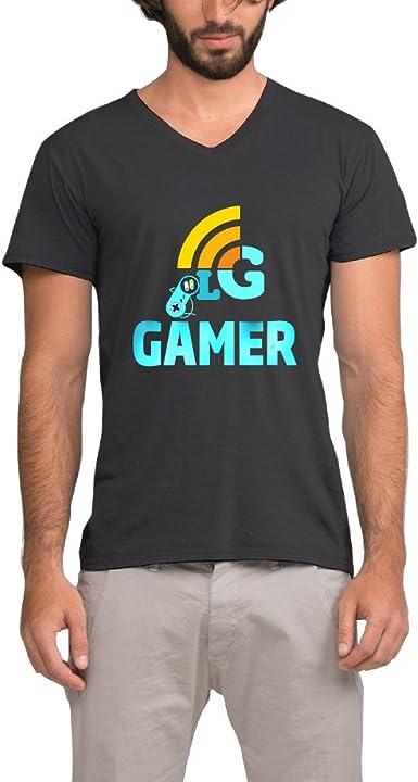 TEE Camiseta Gamer Hombre Cuello De Pico Algodón Camisas, Hombre ...