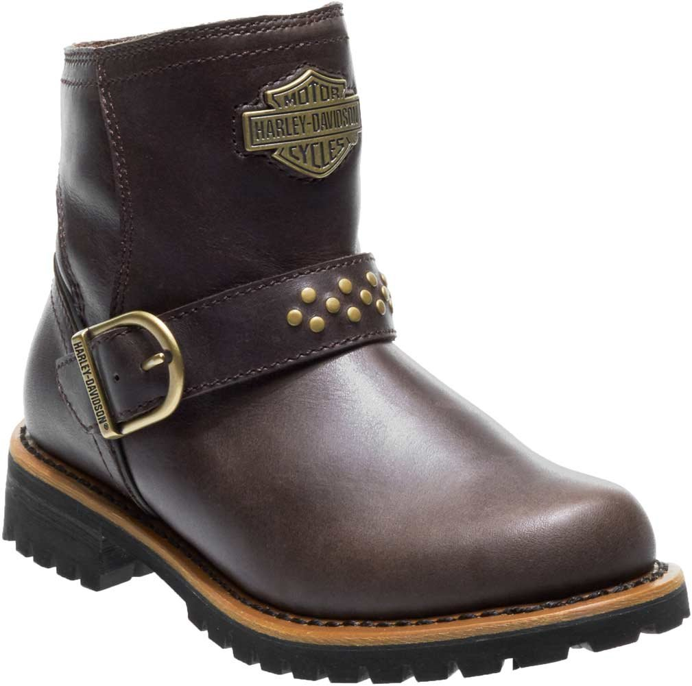 Harley-Davidson Women's Brantley 5-Inch Leather Motorcycle Boots D87144 D87145 B07DF7NYDR 7 B(M) US|Brown