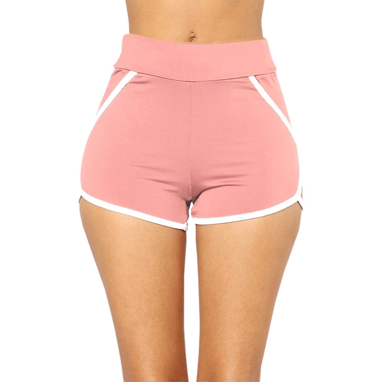 Summer Women Sports Shorts Gym Workout Waistband Skinny Pants Leedford Beach Yoga Short Pants