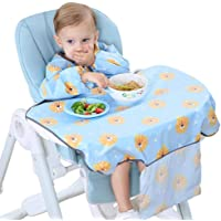 Baby Bibs with Sleeves Long Sleeved Baby Bib Coverall with Table Cloth Waterproof Baby Weaning Bib Ideal for Baby…