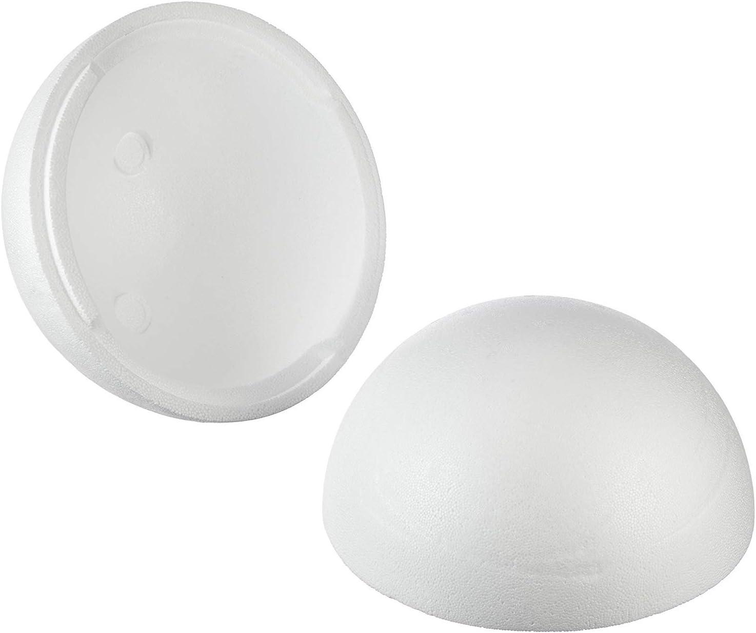 Rayher Bola de poliestireno, Dos mitades, Color Blanco, 25cm Cada Mitad