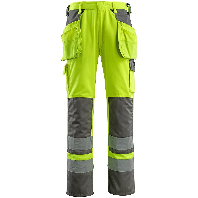MASCOT SAFE Warnschutzhose Handwerkerhose Almas Beinlänge 82cm, Warnschutz nach EN 471 Kl. 2/2