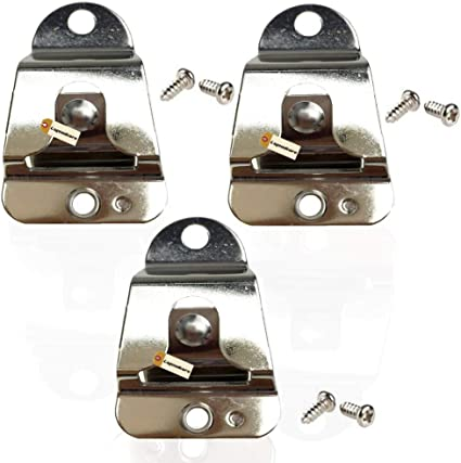 Pack of 3 Lsgoodcare CB Mobile Radio Microphone Mounting Hang Up Clips with Screws HLN9073 Compatible for Motorola Two Way Radio XPR4350 CDM1250 CM200 GM300 Walkie Talkie Mic Holder Clips