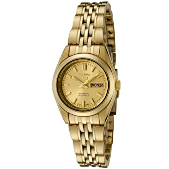 d2413c268 Amazon.com: Seiko Women's 5' Japanese Automatic Gold-Tone-Stainless-Steel  Casual Watch, Color:Gold (Model: SYMA38K): Seiko: Watches