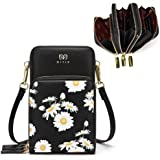 Jangostor Mini bolso bandolera para mujer con flores de margarita, monedero pequeño para teléfono móvil Billetera de…