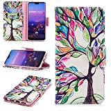 Huawei P20 Pro Wallet case Leather, Luckyandery with Card Slots Kickstand Shockproof PU Leather Wallet Flip Case for Huawei P20 Pro Smartphone #04