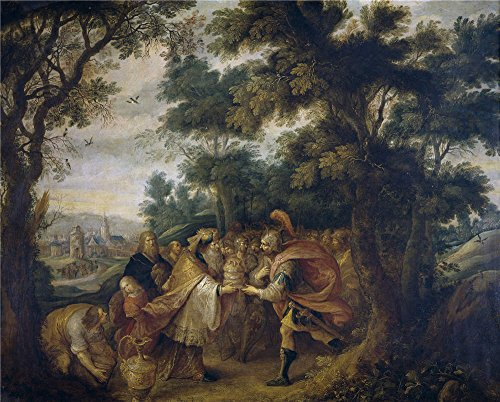 Oil Painting 'Francken Frans II Abraham Y Melquisedec', 16 x 20 inch / 41 x 51 cm , on High Definition HD canvas prints is for Gifts And Bar, Bath Room And Garage Decoration, home -