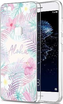 Pnakqil Funda Huawei P10 Lite, Silicona Transparente con Dibujos ...