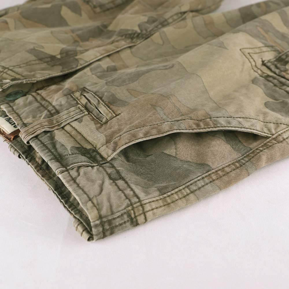 Muscle Alive Uomo Vintage Cargo Shorts Gli Sport Bermuda Campeggio Escursionismo Camuffare Pantaloncini Cotone