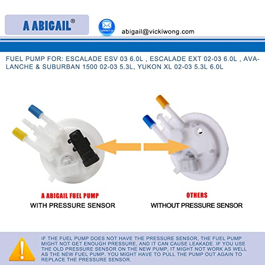 Amazon.com: Fuel Pump A3556M for: escalade esv 03 6.0l , escalade ext 02-03 6.0l , avalanche & suburban 1500 02-03 5.3l, yukon xl 02-03 5.3l 6.0l: ...