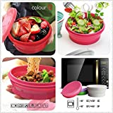 Anjiliya 800ML Silicone Collapsible Bowl with Lid for...