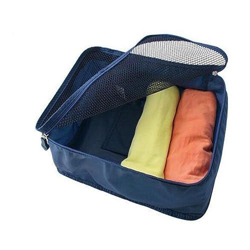 GUJJ Sac de voyage de vêtements Sous-vêtements tachés magazine bra 40*30*13cm, poche, bleu foncé