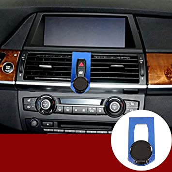 Red YIWANG Alumium Alloy Mobile Phone Holder Trim for BMW X5 E70 2007-2013 X6 E71 2008-2014 Car Accessories
