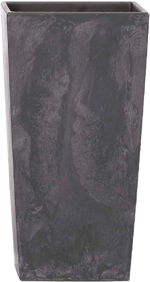 x 24 Alto Ancho Maceta Alta Cuadrada 19 L Prosperplast Rato Square de pl/ástico con dep/ósito en Color Antracita Profundo x 24 45 cms