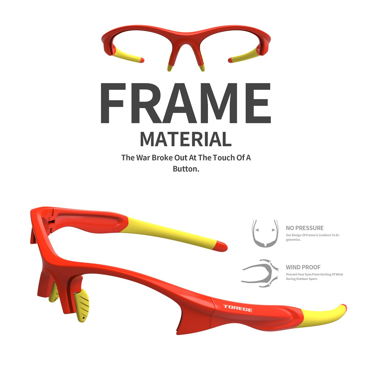 e0d1b1802f TOREGE Tr90 Flexible Kids Sports Sunglasses Polarized Glasses for Junior  Boys Girls Age 3-12 TR041
