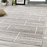 """Novelle Home Meridian Parallel and Perpendicular Lines Rug, Dimensions: 6'7"""" x 9'6"""""""