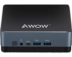 Mini PC Mini Desktop Computer AWOW Windows 10 Intel Celeron J4125 8GB DDR4 128GB SATA SSD, Dual Band WiFi, Dual HDMI 2.0X2, U