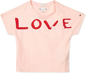 Tommy Hilfiger KG0KG04202 Bold Text Grown T Shirt and Tank JR Girl (8-16 Year) Pink 12Y