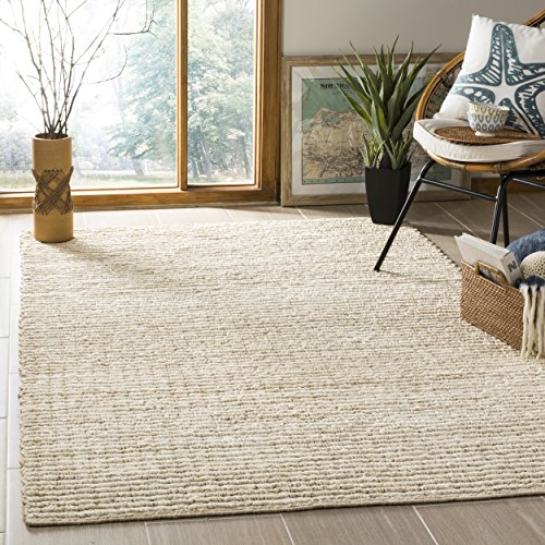 Ivory Jute Rug (Safavieh Natural Fiber Collection NF750A Ivory Area Rug, 6' x 9')