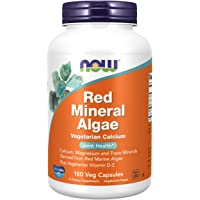 NOW Red Mineral Algae,180 Veg Capsules