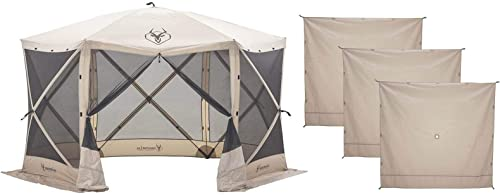 Gazelle G6 8 Person 6 Sided 124″ Portable Canopy Screen Tent