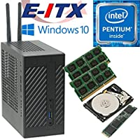 Asrock DeskMini 110 Intel Pentium G4600 Mini-STX System, 8GB Dual Channel DDR4, 120GB NVMe M.2 SSD, 1TB HDD, Win 10 Pro Installed & Configured by E-ITX
