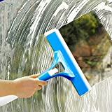 Tormeti Extendable Solid Handheld Vehicle Glass Cleaning Squeegee Mini Wiper with Sponge (Standard Size, Blue)