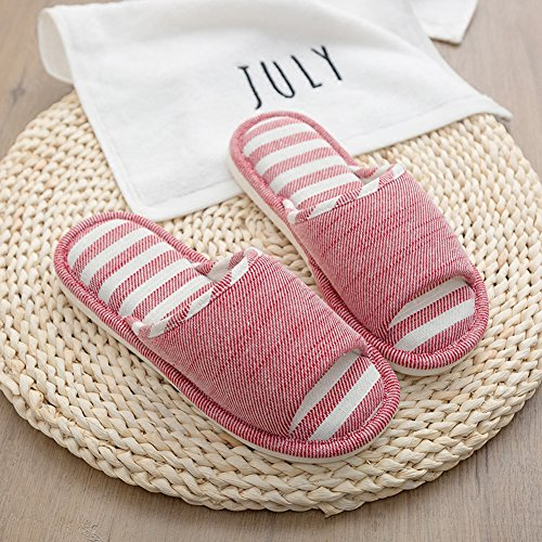 Moodeng House Slippers Women Men Home Indoor Shoes Lightweight Slide Washable Non-Slip Slipper by Red z7QCTVx