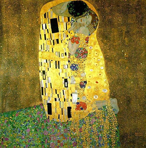50- 4000 Hand Painted Art Paintings by College Teachers – Gustav Klimt The Kiss Oil Painting Reproduction – Wall Decor Canvas Old Famous Works -Size05