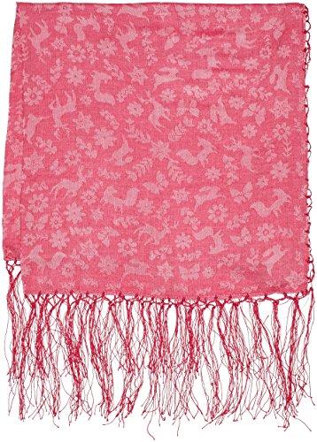 Fransen pink Alpenflüstern Aus Tiere Jaquard Tanzende Rose Trachtentuch Mit Femme rosa Trachtenhalstücher xaaO6Spwq