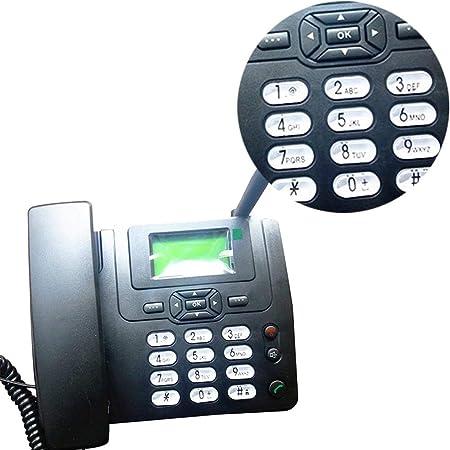 rebirthesame Téléphone de Bureau , Téléphone Sans Fil Hot Fixe Sans Fil gsm Téléphone de Bureau Carte SIM Carte Bureau Mobile Téléphone de Bureau à Domicile: Amazon.es: Electrónica