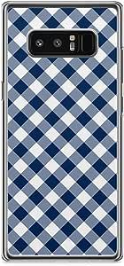 Samsung Galaxy Note 8 Transparent Edge Navy Blue Blaid - Durable Plastic Phone Cover