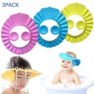 Toddler Kids Random Baost 1Pc Soft Baby Bath Visor Safe Shampoo Shower Bathing Protection Bath Cap Shower Cap Hat Hair Wash Eye Ear Protection Shield Adjustable Visor Hat for Baby