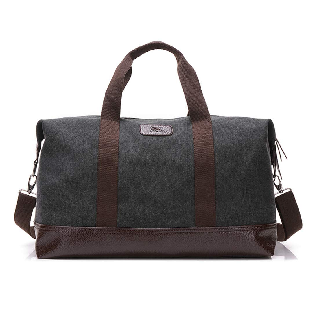 Large Capacity Canvas Travel Bags Casual Men Hand Luggage Travel Big Tote Male Crossbody Bag grey
