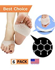 Metatarsal Pads, Ball of Foot Cushion (6 PCS) NEW MATERIAL Forefoot Pads, Breathable & Soft Gel, Best for Diabetic Feet, Callus, Blisters, Forefoot Pain. Can be sued for both feet For Men and Women.