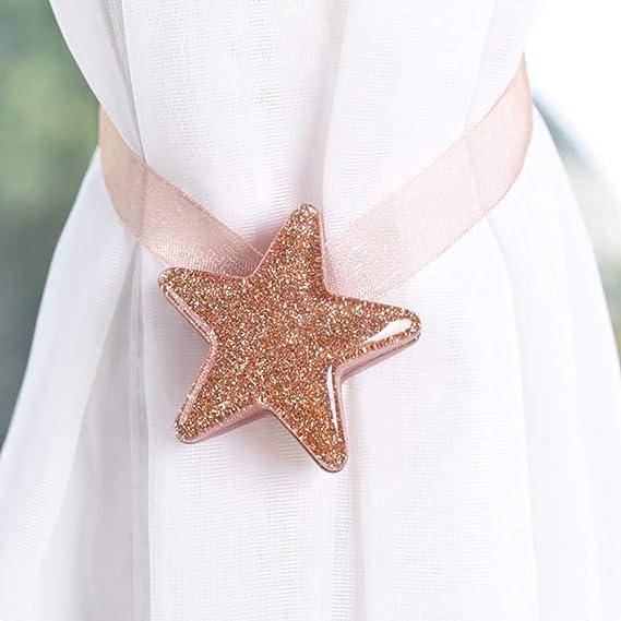 d/écoration d/'int/érieur et chambres Aimant Vert Danigrefinb Boucle magn/étique pour rideau de fen/être en forme d/étoile Small