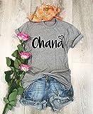 Ohana. Unisex Fit. Screen Printed. Made To Order. Disney Inspired T Shirt. Clothing. DisneyWorld Visit. Cool T Shirt. Gift Shirt. Disney Fun Shirt.