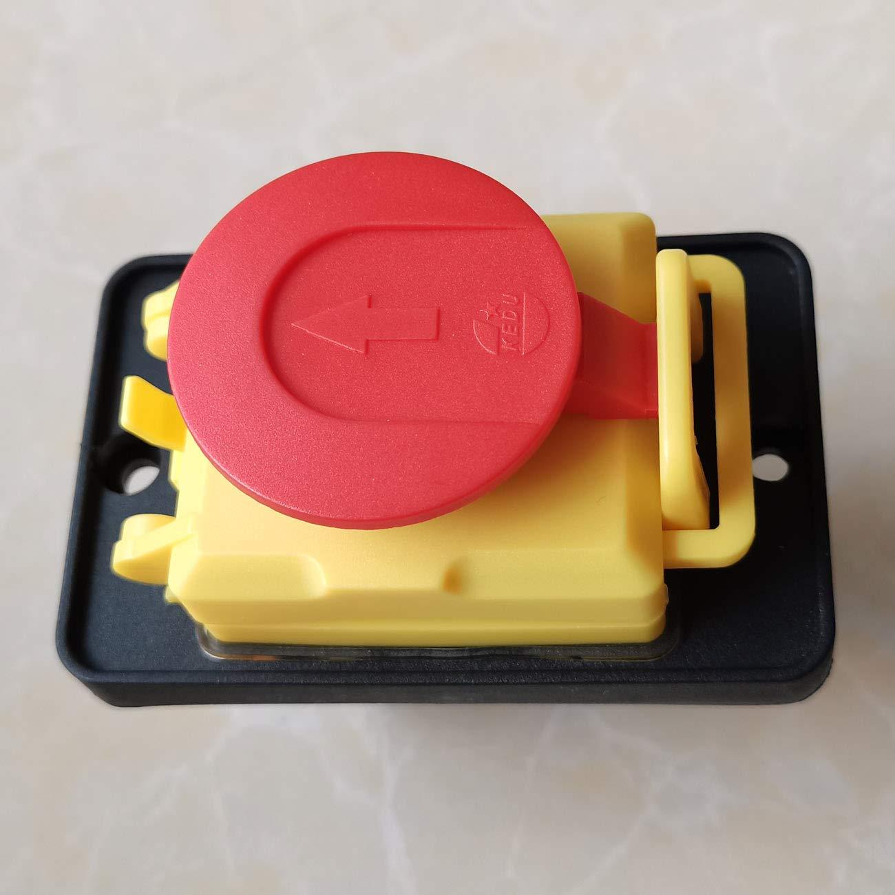 KEDU KJD18 7Pins Wasserdichter elektromagnetischer Schalter Not-Aus-Taster f/ür industrielle Werkzeugmaschinen AC 400V 15 A 5E4 IP54 8