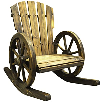 Awe Inspiring Watsons Cartwheel Solid Wood Garden Rocking Chair Seat Burntwood Squirreltailoven Fun Painted Chair Ideas Images Squirreltailovenorg