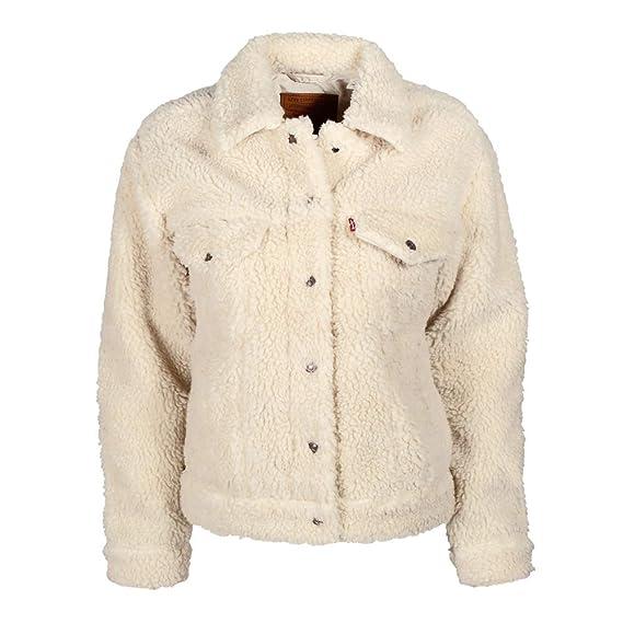 wholesale dealer 6023a acdb0 Levi's All Over Sherpa Trucker W Jeansjacke cloud cream ...