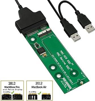 QNINE tarjeta de adaptador SSD a SATA o USB para (2012 años ...