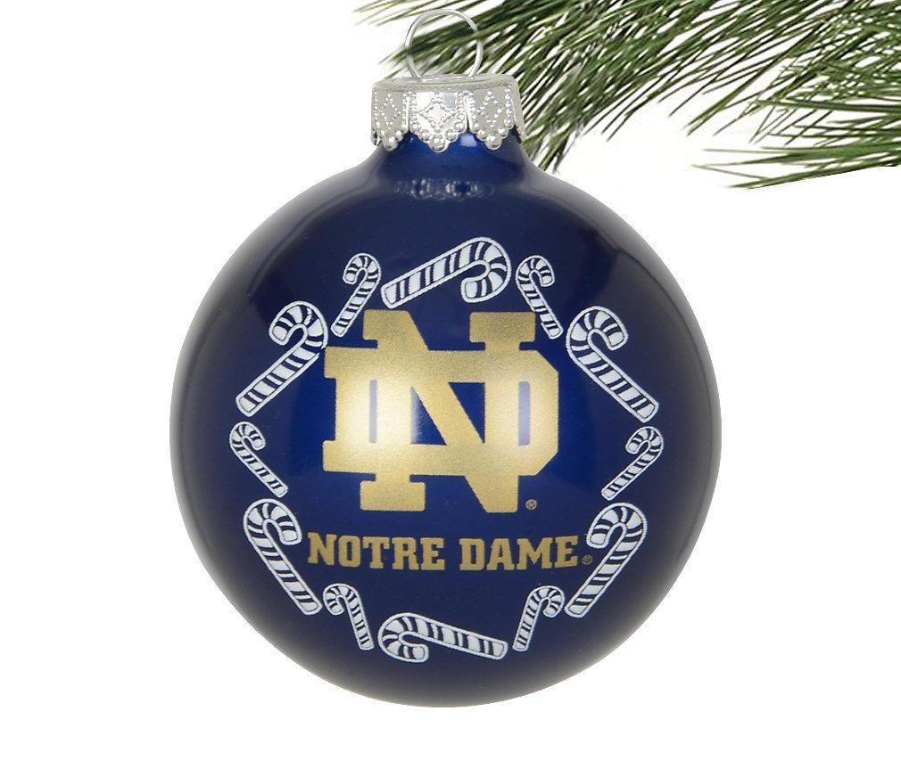 Amazon.com : Boelter NCAA Candy Cane Traditional Glass Ball ...