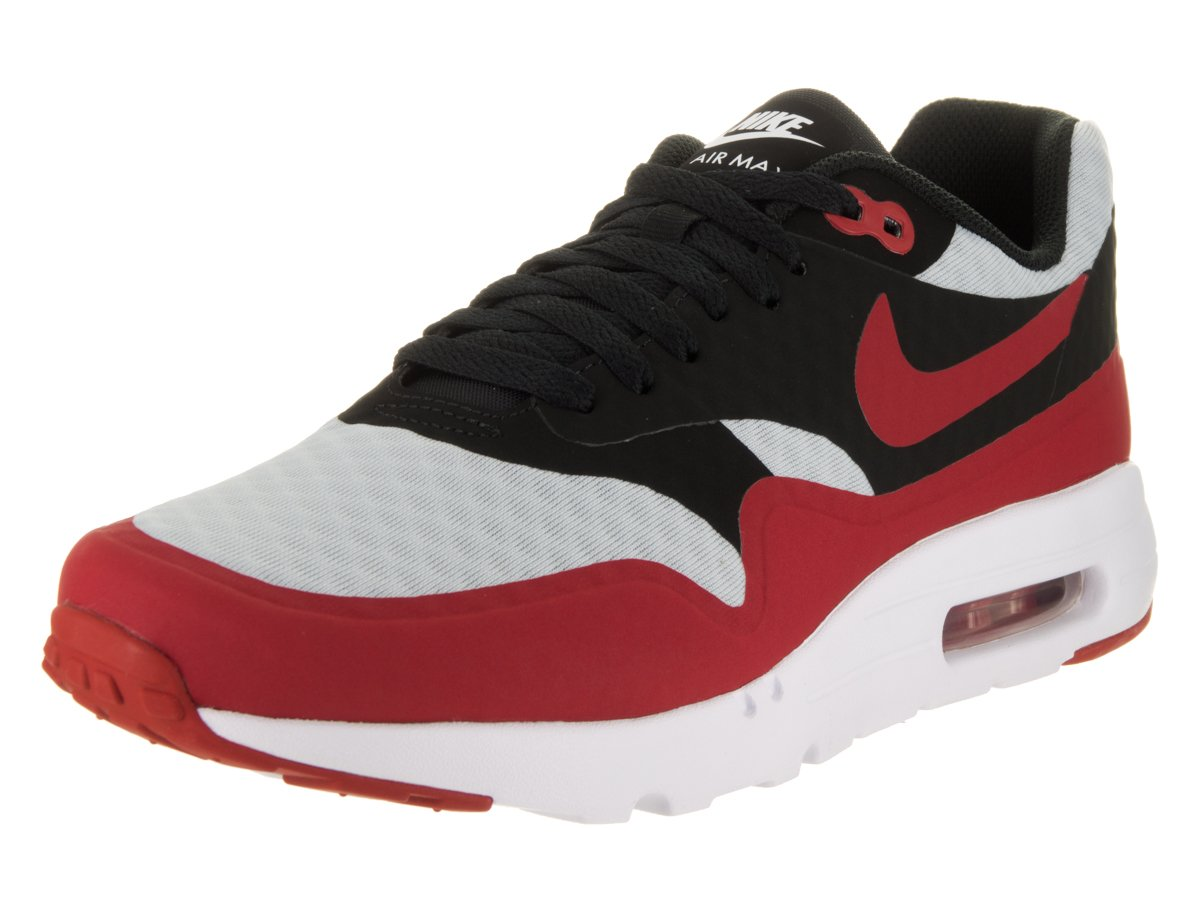 NIKE Air Max 1 Ultra Essential Mens B01MEDA63J 8.5 D(M) US|Pure Platinum/Gym Red