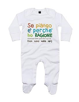 Pelele de bebé Invierno manga larga – Body pagliaccetto se Piango ist Perchè Ho Ragione (