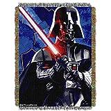 1 Piece 48'' x 60'' Black Star Wars Theme Throw Blanket, Storm Trooper Darth Vader C-3PO Luke Skywalker Chewbaca Space Galaxy Light Saber TIE Fighter Millennium Falcon Drones Jedi R2-D2 Droids,Polyester