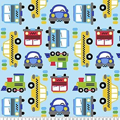 Kiddie Car No-Sew Throw Fleece Fabric Kit