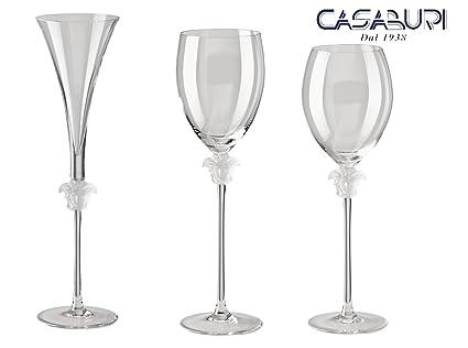 VERSACE. SET 6 pz Bicchieri Medusa Lumiere (2 calici Acqua+ 2 calici vino +