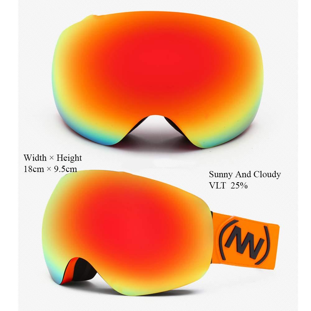CXJ Skibrille Snowboard Brille Verspiegelt Verspiegelt Verspiegelt Dual Austauschbar Sphärischer Linse Anti-Beschlag Frameless UV400 OTG Schutz Für Damen Männer B07KYLRHL8 Skibrillen Menschliche Grenze 334a23